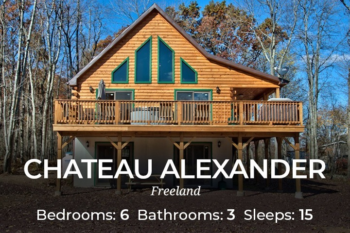 Chateau Alexander: Pocono Cabin Rental With Hot Tub. Group Rentals Families  U0026 Couples, Private Pet Friendly Cabins
